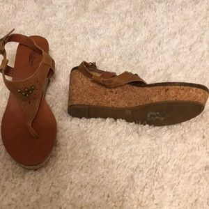 Lucky brown wedges. Size 10 M